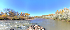 Rio Chama (rhanelt) Tags: panorama riochama chama river newmexico autumn fall cottonwoods abiquiu 2016