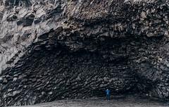 Dark cave in Vk. (Matthias Dengler    www.snapshopped.com) Tags: vik iceland black beach matthias dengler snapshopped adventure travel alone stone rock cave nature landscape island islandia