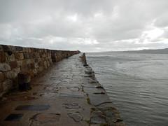 Lower half of St Andrews pier, 2016 Oct 23 (Dunnock_D) Tags: uk unitedkingdom britain scotland fife standrews grey cloud cloudy sky northsea sea waves pier