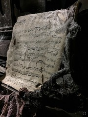 Tickle Ghostly Ivories (Little Hand Images) Tags: sheetmusic piano cobwebs torn dusty paper notes musicalnotes