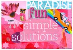 From Annalise (tofuart) Tags: pink pinkweek mailart postcard postal art collage mixedmedia