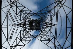 Overhead Symmetry (Bowen Chin) Tags: lionrock hiking hongkong sky power overheadtransmissionline overheadpowerline electricity day fujifilm fujifilmx 1024mm fujifilmxt2 xt2 symmetry