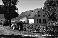 "Montfort (L),  Hoeve ""Het Rozendaal"". (wimjee) Tags: montfort limburg zwartwit zw blackandwhite hdr nikon d7200 hoeve rozendaal"