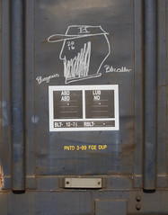 Boxcar Art (orangedot777) Tags: moniker markal bluegrass bluecollar boxcarart railart freightcar freighttraingraffiti folkart