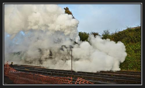 22.10.16 Mid Hants Ropley,,LMS Class 4mt  43106 Mogul..