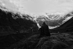 Solitude (tim_k1) Tags: cold weather clouds abc annapurnabasecamp annapurna himalaya mountains travel nepal monochrome blackandwhite f28 pro 714mm em1 m43 olympus