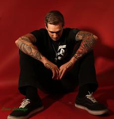 J4 (oneryarlys) Tags: man tattoo model texas belgium models tattoos tats hansom