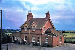 Upton & Blewbury station (2), 1984 (Blue-pelican-railway) Tags: upton blewbury berkshire railway station closed