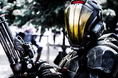 London MCM Comic Con May 2016 (Arvid Olsson) Tags: scifi soldier machinegun future cosplay london comic con comiccon excell may 2016 mcm male weapons armor fantasy costume minigun