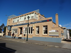 Port Elliot. The old Hotel Elliot built as the Railway Hotel in 1867 when the horse tram line from Goolwa was extended to the new town of Victor Harbor. It had an Art Deco facelift in the 1930s. (denisbin) Tags: church hotel postoffice institute southcoast anglican councilchamber portelliot