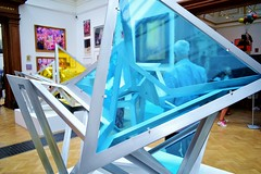 Blue triangle (leannerhodes) Tags: art blue triangles london royal acadamy
