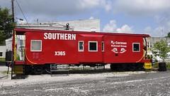 Wilmore, Kentucky (Bob McGilvray Jr.) Tags: wilmore kentucky ky caboose steel red baywindow southern sou railroad train tracks display public museum static rjcorman
