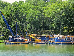Tugs and dredges (DannyAbe) Tags: boats dredge tugboat geneseeriver rochester eriecanal geneseevalleypark
