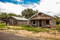 People who live in stone houses shouldn't throw glass (Culinary Fool) Tags: palouse historicbuilding usa washington historic 2016 greatdepression palousescenicbyway abandoned roadtrip brendajpederson travel house photography basalt stone culinaryfool lacrosse may wa travelwa 2470mm28