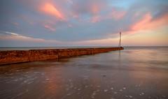 Outgoing tide.... (hall1705) Tags: rustington outgoingtide beach water sea shore seascape seaside sunset groyne marker longexposure p340 nikon