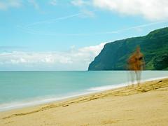 polihale over time (nj dodge) Tags: polihale polihalebeach longexposure nd400 sand pacificocean ocean napali kauai hawaii contrails