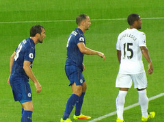 Fuchs and Drinkwater watch Routledge (lcfcian1) Tags: leicester city swansea lcfc scfc swans king power stadium epl bpl premier league football sport footy leicestercity swanseacity kingpowerstadium leicestervswansea leicestercityvswanseacity 21 27816 wayneroutledge
