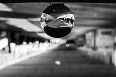_MG_0288-2 (AdamFejes) Tags: glass globe glassglobe pointofview light sun summer blackandwhite bw colour city budapest danube sunset
