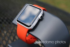 Ceramic Apple Watch with Orange Sport Band (gudedomo) Tags: apple ceramic watch applewatch white edition watchband band wrist accessory color combination red product 2016 orange yellow mint green bright pink salmon stand blue baby turquoise navy ocean midnight cocoa mocha nylon metal strap link bracelet milanese loop hermes leather
