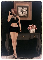 Marianne (chanell.resident) Tags: marianne liescreations top lace mini skirt black shoes belleza maitreya slink mesh fittmesh