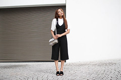 Back To School - But Classy by Thao Nhi  L., Fashion Blogger & Student  from Germany, Germany (9lookbook.com) Tags: 70s asian asseenonme baseballcap blackandwhite blogger bomberjacket brebel cap casual celine chic chloefaye classy colourful cool culotte daphale denim dresd fancy fashion flarejeans flats girly grannyhair heels jeans knit laceup latzkleid looks momjeans mules ootd overall pastel pink pinstriped platform rippedjeans sneaker spring streetstyle stripes style suedejacket summer vans