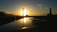 (Luclasaw) Tags: tokyo shikinejima niijima port pier summer japan sea lighthouse cluds 東京 式根島 新島 海 夏 桟橋 港 日の出 雲 日本 灯台 sunrise