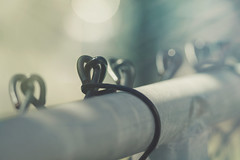 Follow Your Heart (charhedman) Tags: fencefriday hearts fence macro bokeh light wire