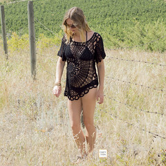 Black Flower Crochet Blouse Beach Cover by Forty-Teen (Forty-Teen) Tags: topsandblousescanadaonline topsandblousesusaonline fortyteenstyle kelowna bc canada can boho beachwear blouse crochet bohostyle tops blouses fashion bikini clothing style love crochetbeachcover beachcover womensclothing
