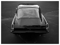 Barracuda (daveelmore) Tags: barracuda 1965plymouthbarracuda 1965 plymouth mopar car automobile vehicle coupe musclecar hotrod blackwhite bw lumixleicadgsummilux25mm114