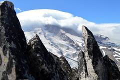 Rainier through the Teeth of Burroughs (Sotosoroto) Tags: dayhike hiking mtrainier burroughsmountain washington cascades mountains