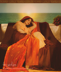FLAMING JUNE (barbara.jackson55) Tags: flamingjune painting photocomposite preraphaelite sunset evening tranquil classical