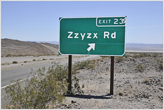 Exit to Zzyzx Road (Explored) (Runemaker) Tags: zzyzx road highway interstate 15 california middleofnowhere mojavedesert mojave desert sign exit