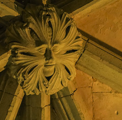 Canterbury Cathedral green man (Missusdoubleyou) Tags: canterburycathedral canterburycathedralgreenman huguenotchapel blackprinceschantry canterbury kent greenman medieval