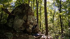 Unknown boulder at Rumbling Bald (drewmercer) Tags: rock climbing rumblingbald rockclimbing bouldering women northcarolina rumbling bald sharpend nature outdoor outdoors craggin