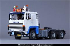 Scania LBS141 (legotrucks) Tags: legotrucks dennisbosman scania 141 lb141 lbs141 lego heavyhaulage v8