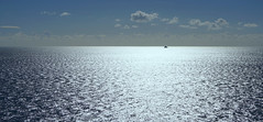 Silver seas (SteveJM2009) Tags: sea sun ship light sparkle horizon durlston dorset uk october 2016 stevemaskell explored