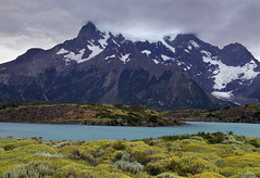 Lago Nordenskjol (Ignati) Tags: torresdelpaine chile mountains clouds sky patagonia outdoor mountain grass grassland lake water   lagonordenskjol