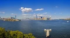 New York  view from Lady Liberty (regis.muno) Tags: newyork usa ladyliberty statuedelalibert liberty libertyisland newjersey statue nikond7000 panorama pano