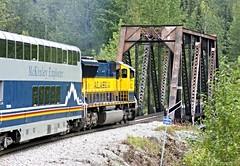 McKinley Explorer ~ bridge crossing (karma (Karen)) Tags: mckinleyexplorer trains domedtrain windows bridges crossing engines