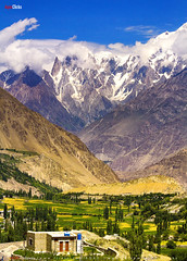 Lady Finger, Hunza & Ulter Peaks (AQAS) Tags: hunza gilgit kkh mountains clouds light landscape ancient history nature colors hill river mountainside grassland indus ngc