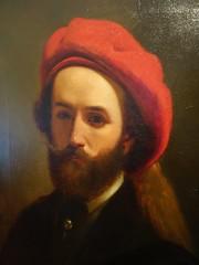 Raspberry beret (Bosc d'Anjou) Tags: rx100m2 portugal porto museusoaresdosreis franciscojosrezende youngman beard beret portrait mnsr portugueseart franciscojosresende