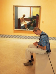 Madrid, 2016 (people in museums) (A-cat-and-a-half) Tags: hopper peopleinmuseums madrid elmuseodeartethyssenbornemisza series candid streetnostreet color people tourists art kunst