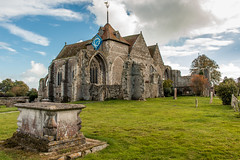 The Parish Church of St Thomas the Martyr, Winchelsea (Keith in Exeter) Tags: church winchelsea sussex england stthomasthemartyr gradeilisted architecture building churchyard clock tower ruins outdoor