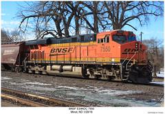 BNSF ES44DC 7550 (Robert W. Thomson) Tags: bnsf burlingtonnorthernsantafe ge diesel locomotive sixaxle gevo evolutionseries es44 es44dc train trains trainengine railroad railway minot northdakota