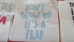 Dont grow up its a Trap (Bjrn Steiner) Tags: dont grow up its trap seen shopping bag