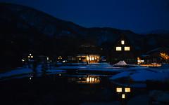 Shirakawa-go #3 (david.ow) Tags: culture night olympus unesco shirakawago travel hut heritagesite snow gifu em5ii village japan traditional