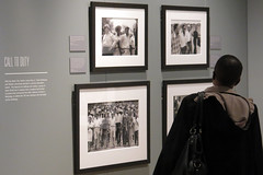 Touring the exhibition