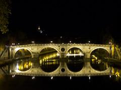 Ponte Sisto, Roma (JLL85) Tags: puente bridge rio river noche night roma rome italia italy sisto monumento monument trastevere paisaje luz light exposicion reflejo