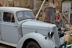2016-09-17: Damaged Car (psyxjaw) Tags: chatham dockyard forties event salutetotheforties kent 40s reenactment historic