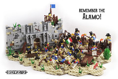 Remember the Alamo! - Overview (brickwebster) Tags: diorama lego moc texas alamo historical battle independence siege
